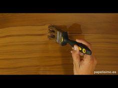 Cómo imitar efecto vetas de madera fácil y rápido paso a paso. Se puede aplicar…