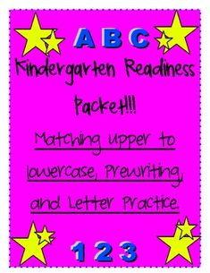 Get your Pre-K child ready for Kindergarten with this Kindergarten Readiness Packet! The packet includes:                     -Matching upper...