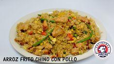 Cómo hacer arroz frito chino con pollo