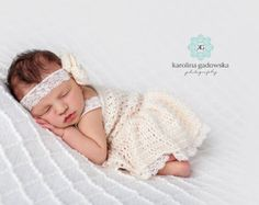 Baby Dress Baby Girl Dress Newborn Dress by KnitAndCrochetLAND