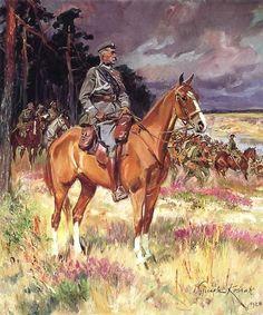 Wojciech Kossak: Marszałek Józef Piłsudski na Kasztance. 1928