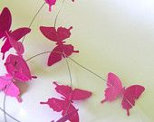 butterfly garland, shabby chic home decore , wedding garland , little butterflies, pink Wall Hanging