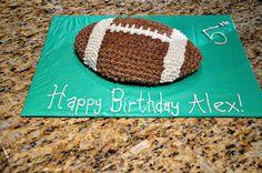 Football cake  Buttercream  Boy Birthday Cake