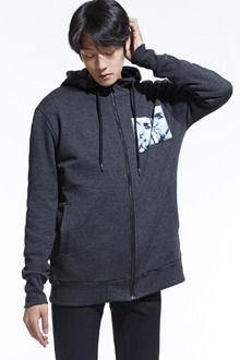 Redhomme Graphic Zip Up HoodieEnhance your winter ensemble with this graphic hoodie. Understated yet extremely functional, this piece warms you up with its long sleeves, high neck, welt pockets, and relaxed fit. Best paired with a casual combination of rib knit pullover, jeans, and shoe boots.