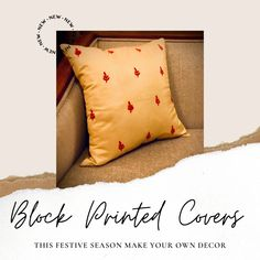 Checkout this lovely creation! #diy #blockprint #makeyourown #decor #diyhomedecor #diydecoration Plain Cushions, Printed Cushions, New Beds, Cushion Covers, Linen Bedding, My Drawings, Make Your Own, Diy Home Decor