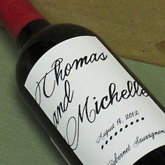 Custom wedding wine labels  Personalized with by nancynikkodesign, $25.50