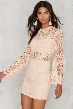 Lorraina Crochet Mini Dress - Clothes | Valentine's Day | Best Sellers | Going Out