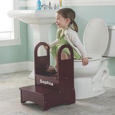 Image result for potty stool kids wooden