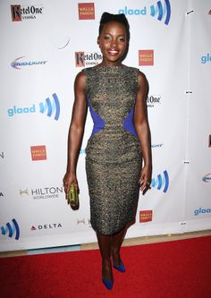 Lupita Nyong'o at the GLAAD Media Awards.