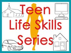 Teen Life Skills series will help prepare teens for their futures in this world and the next.This Teen Life Skills series will help prepare teens for their futures in this world and the next. Life Skills Lessons, Life Skills Activities, Life Skills Classroom, Teaching Life Skills, Activities For Teens, Study Skills, Group Activities, Home Economics Classroom, Life Skills Kids