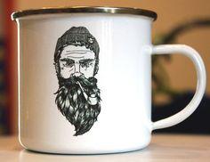 Custom mug personalised enamel mug for camping with by Enammo