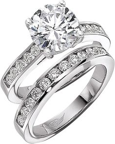 This image shows the setting with a 1.50ct round brilliant cut center diamond. The setting can be ordered to accommodate any shape/size diamond listed in the setting details section below. The matching wedding band is sold separately.