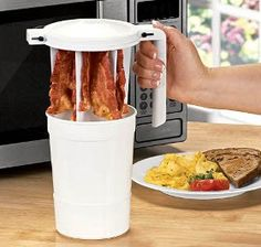 microwave bacon cooker from Harriet Carter Kitchen Helper, Buy Kitchen, Cooking Gadgets, Kitchen Gadgets, Microwave Bacon Cooker, Household Tips, Product Design, Fat, Products