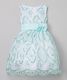Look what I found on #zulily! Kid Fashion Turquoise Sequin Dress - Toddler & Girls by Kid Fashion #zulilyfinds