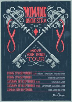 Move Your Things Tour by Ian Jepson, via Behance