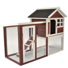 The 'Stilt House' Rabbit Hutch (Actually like this to bring your cat outside if you live in a suburban area without them being stuck on a leash or worrying about them getting out of the yard)