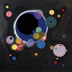 """""""Several Circles"""" by Wassily Kandinsky painting at The Guggenheim Museum, Las Vegas, Nevada"""