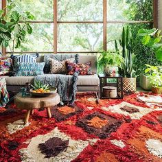So excited to fill the Jungalow with rugs and pillows from our new collection with @loloirugs !! #justinaforloloi