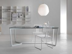 Rectangular crystal dining table TRAIL - MY home collection