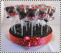 Minnie Mouse Cake Pop Display.