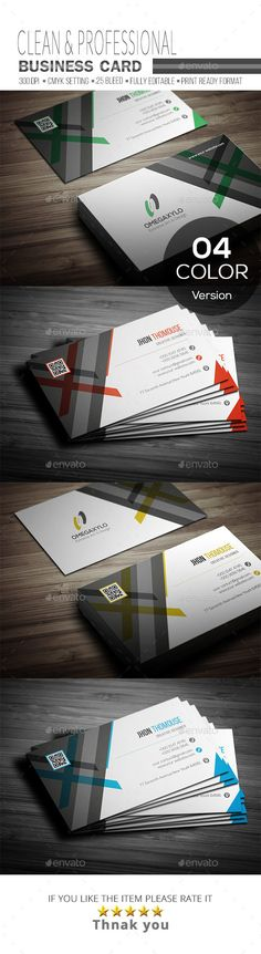 #Business #Card - #Corporate Business Cards Download here: https://graphicriver.net/item/business-card/19294264?ref=alena994
