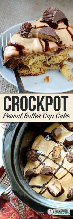 is the holy grail of crockpot dessert recipes. You have to try this amazing Crockpot Peanut Butter Cup Cake Recipe!This is the holy grail of crockpot dessert recipes. You have to try this amazing Crockpot Peanut Butter Cup Cake Recipe! Dessert Oreo, Coconut Dessert, Bon Dessert, Brownie Desserts, Köstliche Desserts, Delicious Desserts, Yummy Food, Dessert Cups, German Desserts