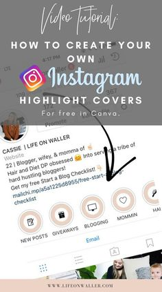 How to make instagram stories highlight icons for free icons how to create your own personal instagram highlight covers for free in canva create a ccuart Images