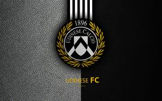 Download wallpapers Udinese FC, 4k, Italian football club, Serie A, emblem, logo, leather texture, Udine, Italy, Italian Football Championships
