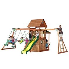 Adventure Playsets The Saratoga Cedar Playset.. Thinking bout getting this for my kids for Christmas!