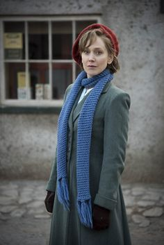 1940s coat and scarf - BBC One - My Mother and Other Strangers - Rose Coyne