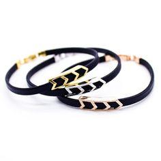 Chevron leather bracelet – Imsmistyle.