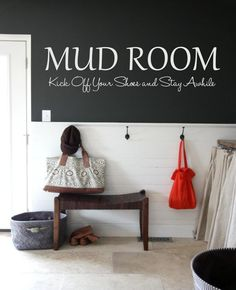 Mud Room Vinyl Lettering Wall Decal by OZAVinylGraphics on Etsy