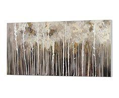 Óleo sobre lienzo Bosque - 70x150 cm