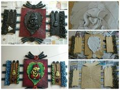 Mural art – Simple Craft Ideas – Hobbies paining body for kids and adult Clay Wall Art, Clay Art, Indian Crafts, Indian Art, Hobbies And Crafts, Arts And Crafts, Name Plate Design, Art N Craft, Mural Art
