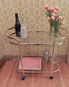 Toronto: Brass Plated and Glass Bar Cart $225 - http://furnishlyst.com/listings/141635