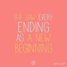 Quote of the week on joyfett.com, new beginnings