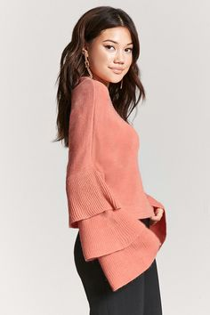 Tiered Bell-Sleeve Sweater - SLEEVES THAT SLAY - 2000165892 - Forever 21 EU English