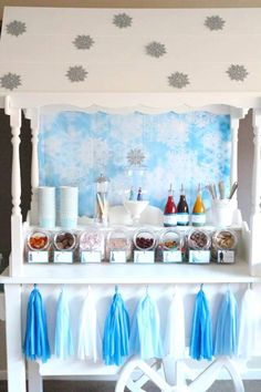 Frozen Ice Cream Themed Birthday Party via Kara's Party Ideas KarasPartyIdeas.com #frozen #icecreabuffet #frozenparty #icecreamparty (3)
