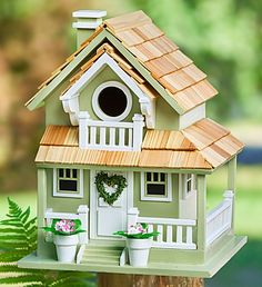"My next birdhouse paint project (or sorta like it LOL ) This was with the flower gifts for Mothers Day at ""800-FLOWERS"""