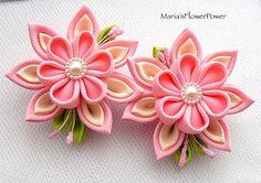 Handmade Kanzashi ladies girls hair clips buy by MARIASFLOWERPOWER