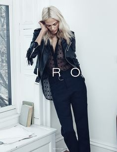 Aymeline Valade for IRO spring-summer 2015 (photo: Lachlan Bailey)