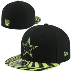 New Era Dallas Cowboys Youth 59FIFTY Optic Viza Fitted Hat - Black Dallas  Cowboys Hats d4ed464c7377