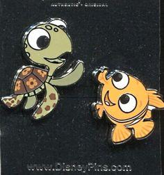 Nemo and Squirt 2 Pin Set - Disney Pin 108603 Finding Nemo
