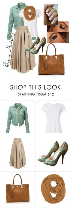 """""""Easy Modesty 1"""" by jolene-mcelraft on Polyvore featuring J.TOMSON, Hanes, TIBI, Christian Louboutin and Urban Decay"""
