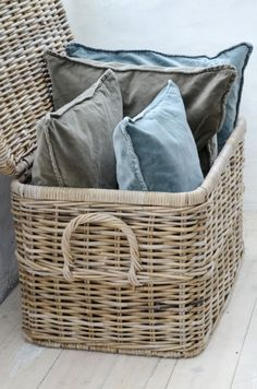 Basket Used For Pillow Storage