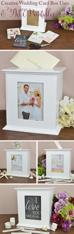 Often times after a wedding, the bride and groom are left with all kinds of items from their wedding that they are not able to reuse for anything in the future. Your wedding card box doesn't need to … Wedding Gift Card Box, Gift Table Wedding, Gift Card Boxes, Best Wedding Gifts, Wedding Boxes, Wedding Pins, Wedding Cards, Diy Wedding, Trendy Wedding