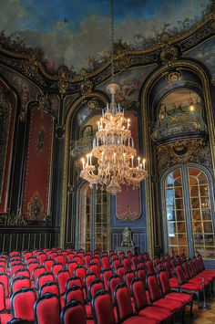*Rococo Revisited - Castle in Pszczyna, Poland (by JerzyW) Versailles, Chateau Hotel, Palace Interior, France, Concert Hall, Eastern Europe, Art And Architecture, Opera House, The Good Place