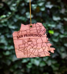 San Francisco Wood Holiday Ornament | Gifts Local Pride | Neighborwoods | Scoutmob Shoppe | Product Detail