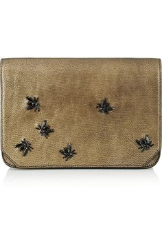 Rochas leather clutch.