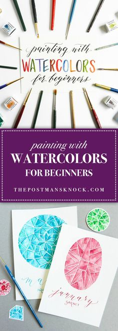Painting For Beginners Ideas Diy Watercolor Techniques Ideas Watercolor Painting Techniques, Watercolor Projects, Watercolor Tips, Watercolour Tutorials, Watercolor Pencils, Painting Tips, Watercolour Painting, Painting & Drawing, Painting Flowers